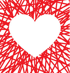stylized reversed valentines love heart vector image