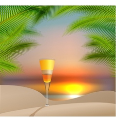 Summer holidays with cocktail vector image