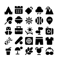Summer icons 6 vector