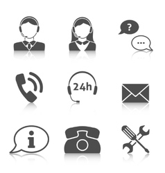 Support service icons set vector