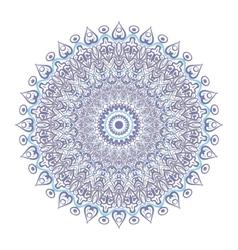 Symmetrical circular pattern mandala isolated on vector image