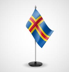Table flag of Aland Islands vector
