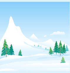 Winter nature landscape background vector