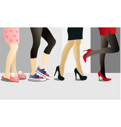 woman legs in shoes vector image