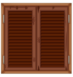 wooden window in bad condition vector image