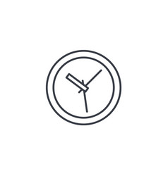 clock time watch thin line icon linear vector image