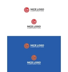 g gear logo vector image
