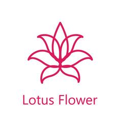 lotus flower logo icon vector image