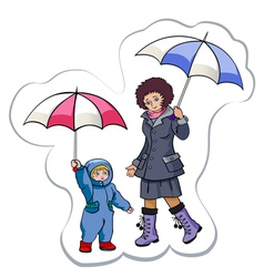 under a rain vector image