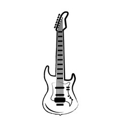 guitar big icon on on white vector image
