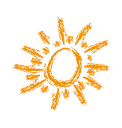 orange sun abstract icon vector image vector image