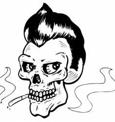 Rock n' Roll skull vector image vector image