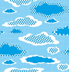 Seamless Pattern with Dotted Clouds on the Sharped vector image vector image