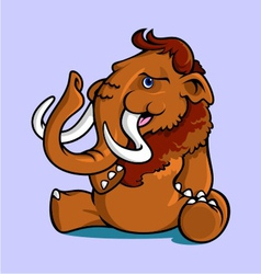 Smiling Sitting Mammoth vector image