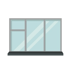 Window open interior frame glass construction vector image vector image