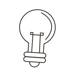 bulb light idea innovation outline icon vector image