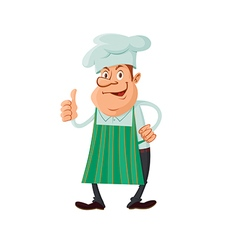 chef thumb up vector image