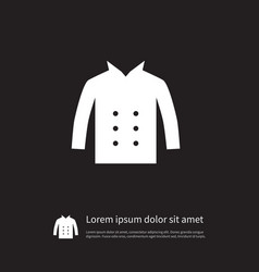 isolated cardigan icon leather element can vector image vector image