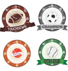 sport labels vector image