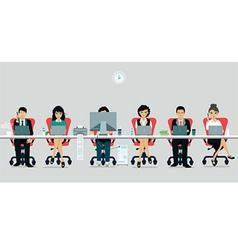 Working hours vector image vector image