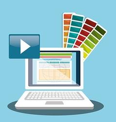 Computer web design vector image