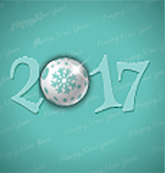 Happy new year bauble background 0311 vector