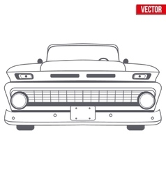 Muscle car symbol vector image