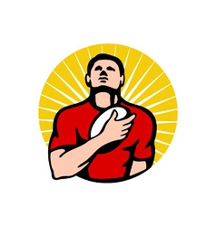 vintage rugby logo vector image vector image