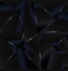 abstract background black and blue low polygon vector image