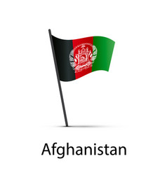 afghanistan flag on pole infographic element on vector image