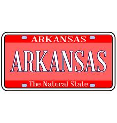 Arkansas state license plate spoof vector