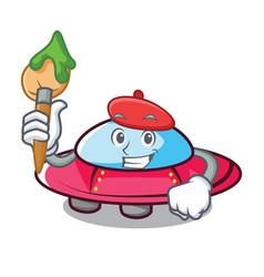 artist ufo character cartoon style vector image