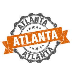 Atlanta round ribbon seal vector