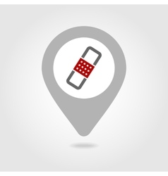 Band Aid map pin icon vector