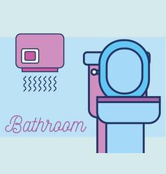 Bathroom hand dryer toilet clean vector
