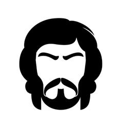 Bearded man vector image