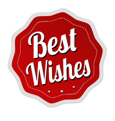 best wishes label or sticker vector image