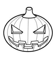 Black and white halloween day pumpkins halloween vector