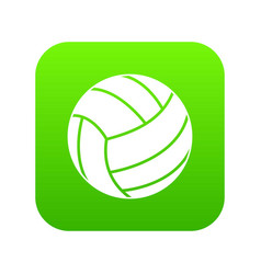black volleyball ball icon digital green vector image