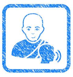 buddhist confession framed stamp vector image