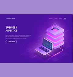 business analytics concept cloud computing big vector image