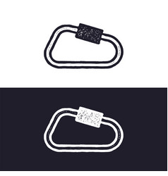 Carabiner icon isolated on white background vector