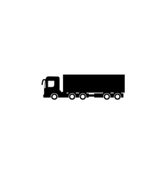 cargo with a trailer icon element of car type vector image