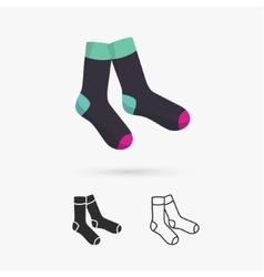 Classic socks vector