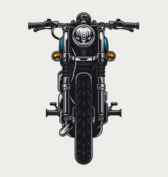 Colorful motorcycle front view concept vector