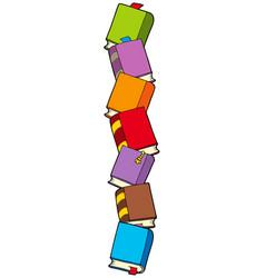 column of books vector image