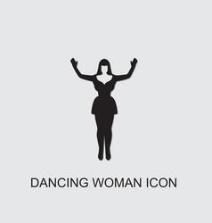 Dancing woman icon vector
