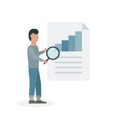 data analyzing concept flat vector image