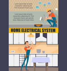 Electrician technician electricity repair service vector