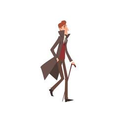 Elegant victorian gentleman cartoon character vector